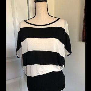 CALVIN KLEIN black and white striped top